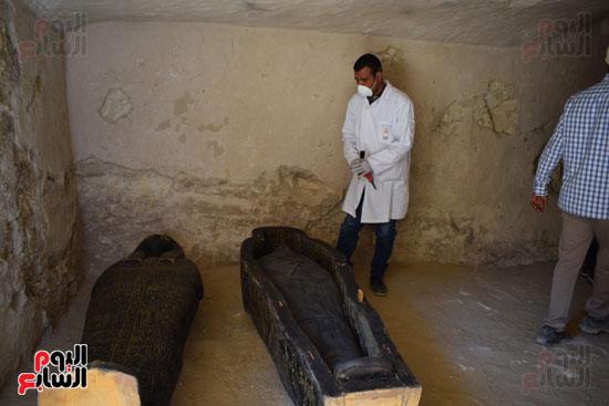 وزير الآثار يعلن اكتشاف مقبرة ثاو آر خت إف بالأقصر (12)