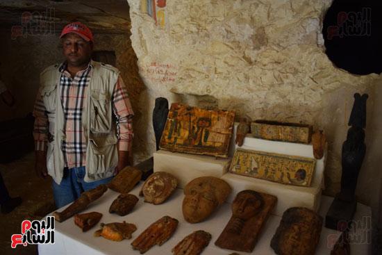 وزير الآثار يعلن اكتشاف مقبرة ثاو آر خت إف بالأقصر (11)