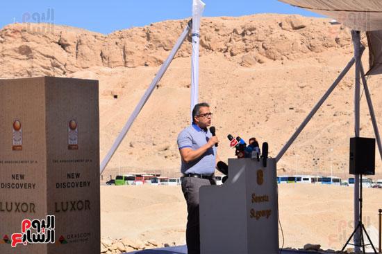 وزير الآثار يعلن اكتشاف مقبرة ثاو آر خت إف بالأقصر (2)