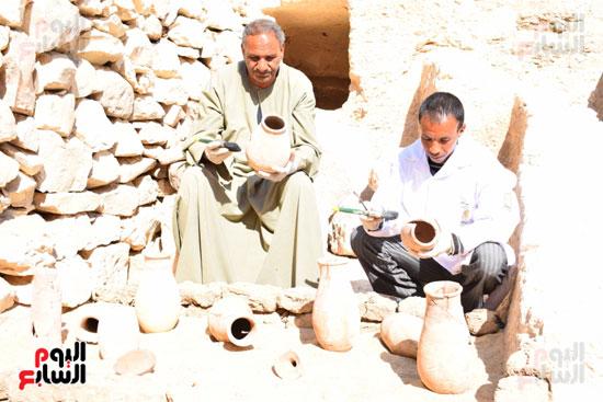 وزير الآثار يعلن اكتشاف مقبرة ثاو آر خت إف بالأقصر (32)