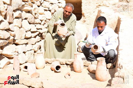 وزير الآثار يعلن اكتشاف مقبرة ثاو آر خت إف بالأقصر (33)