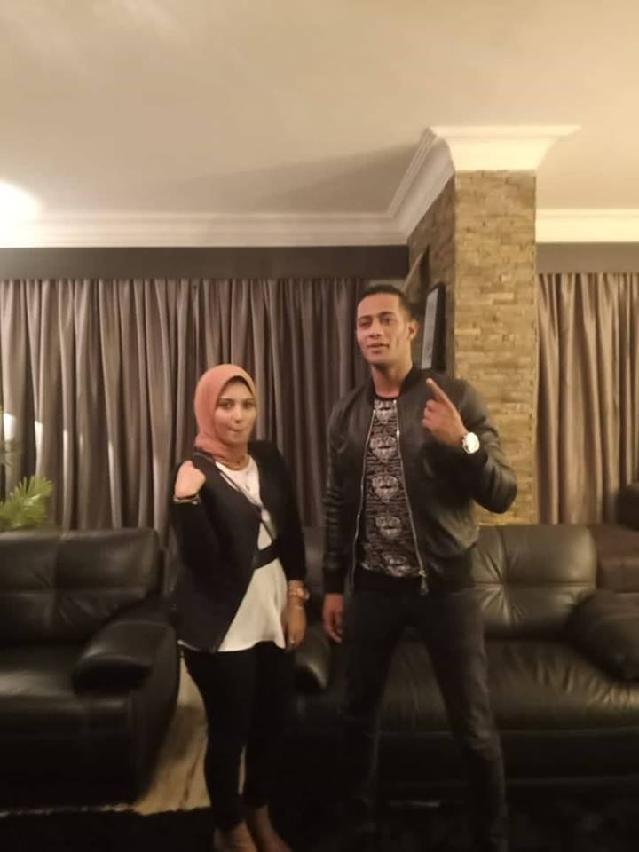 Artist Mohammad Ramadan and student Esraa al-Sebaei (3)