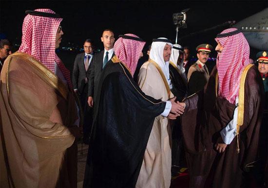 الرئيس السيسى يستقبل ولى العهد السعودى فى مطار القاهرة (4)
