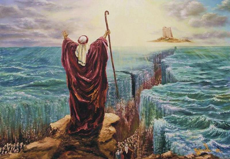 لوحه تعبيريه للنبى موسى
