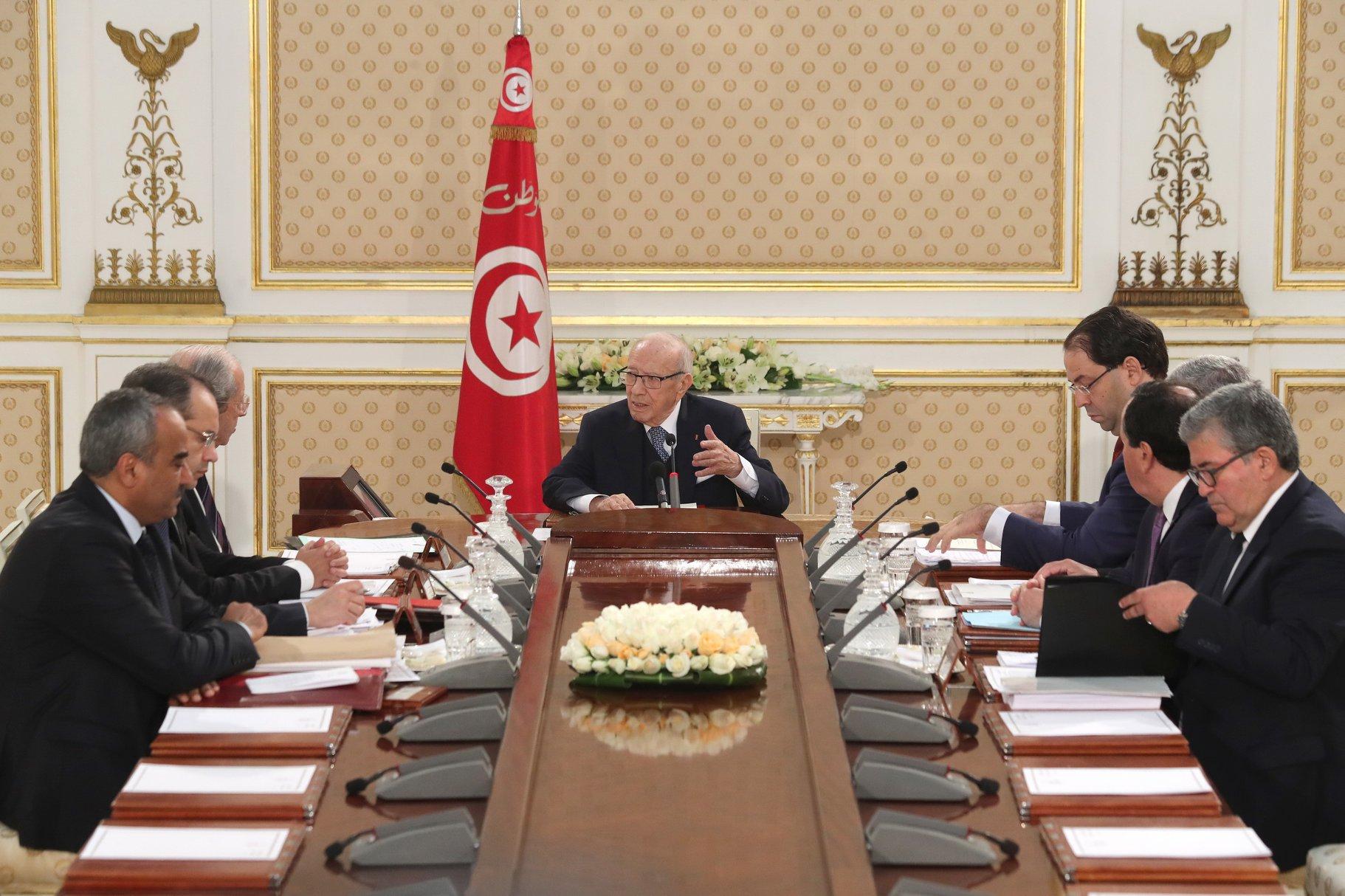 اجتماع مجلس الأمن القومي التونسي