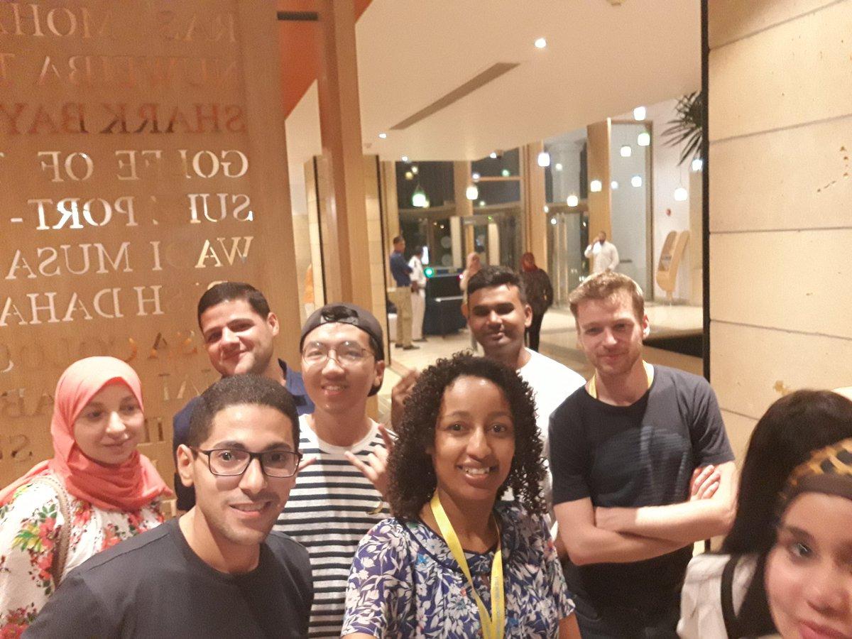 بعض المشاركين فى منتدى شباب العالم 2018