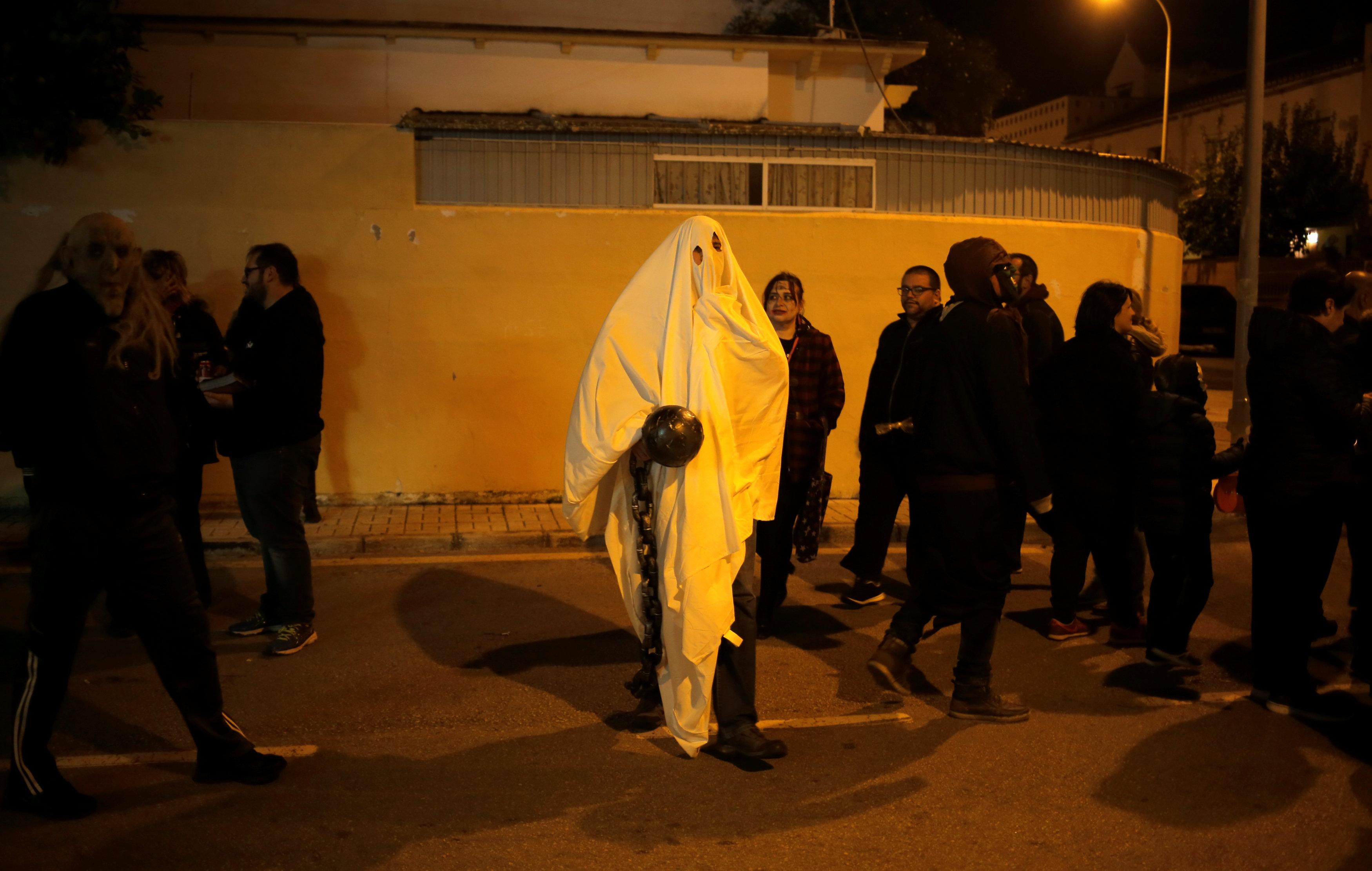 الرعب فى اسبانيا خلال احتفالات الهالوين