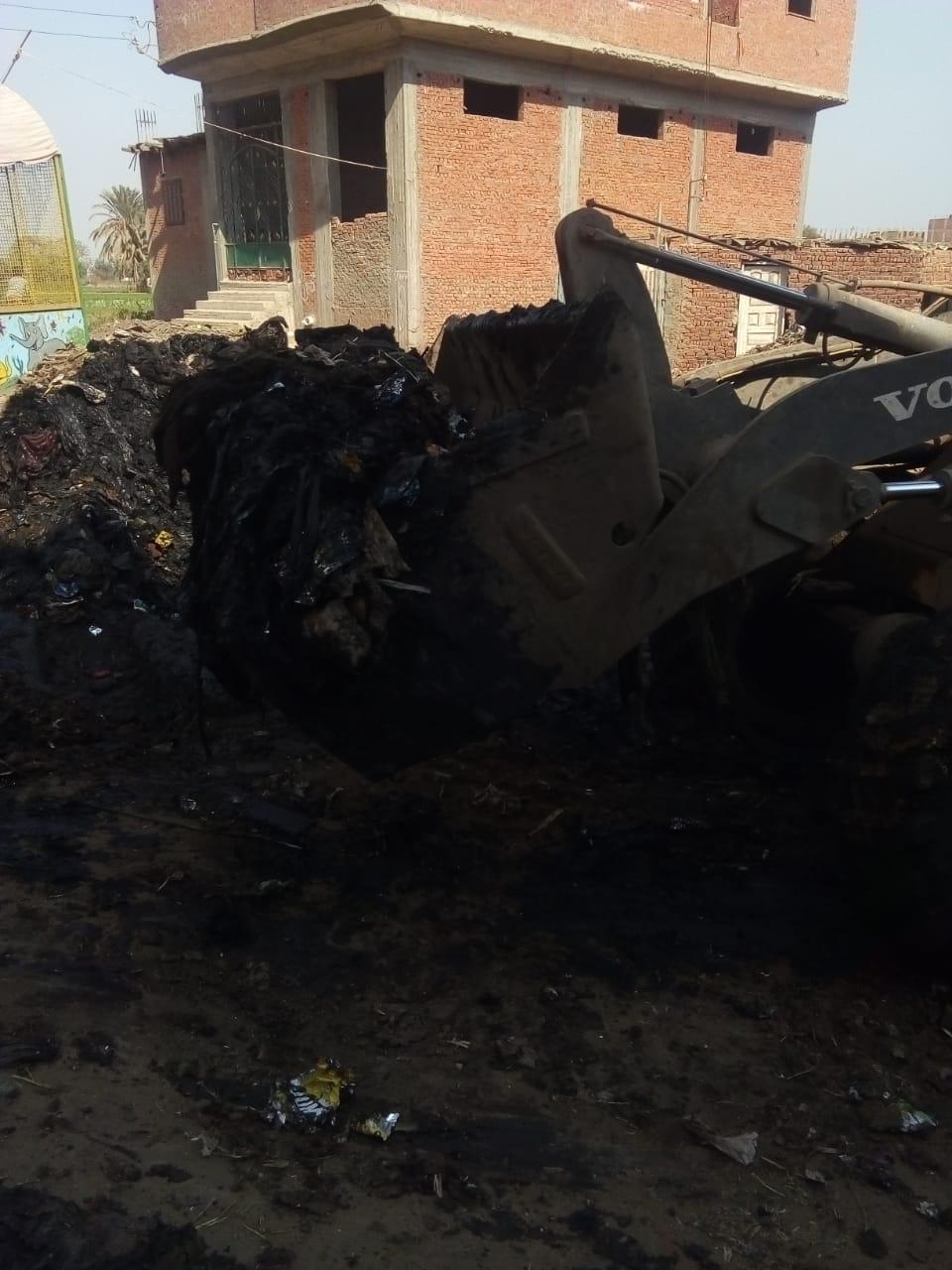 رفع القمامة من أمام مدرسة بشبين القناطر (9)
