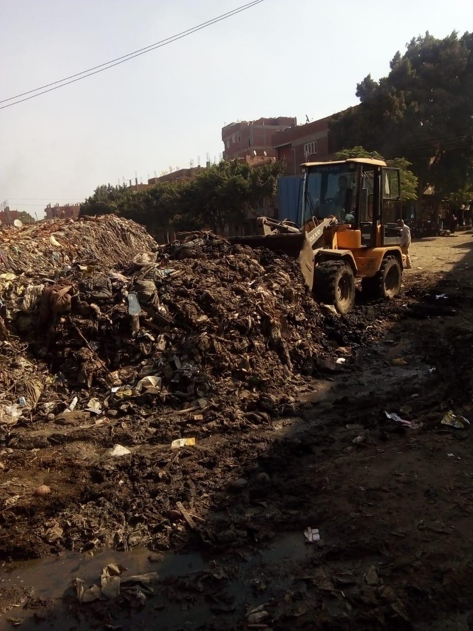 رفع القمامة من أمام مدرسة بشبين القناطر (5)