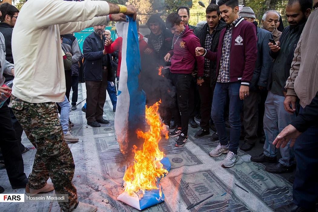 حرق العلم الاسرائيلي