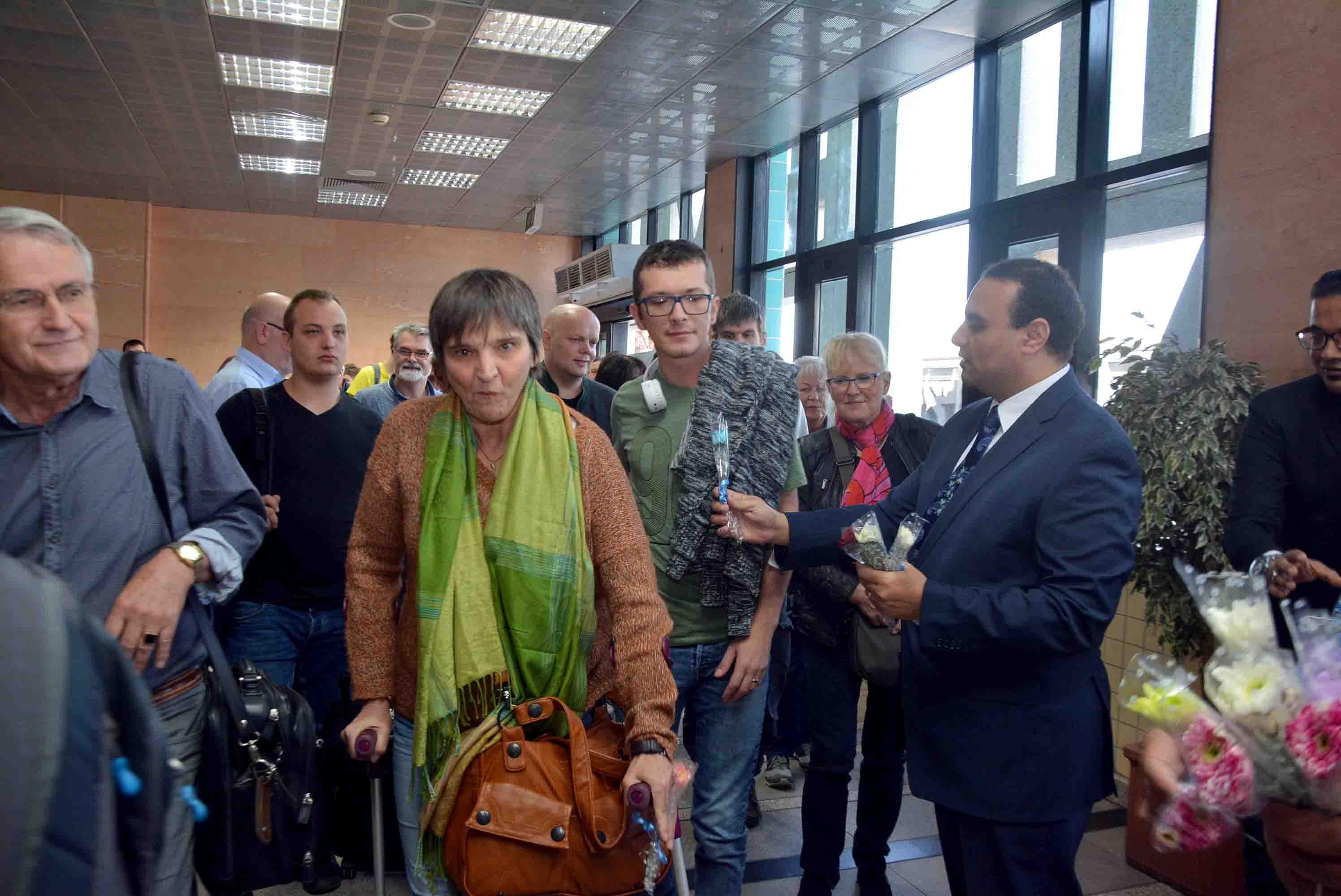 أول رحلة طيران شارتر قادمة من مطار فرانكفورت بألمانيا  (2)