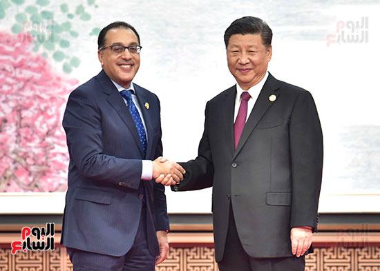 مصطفى مدبولى يفتتح الجناح المصرى بمعرض الصين الدولى للواردات بشنغهاى (1)