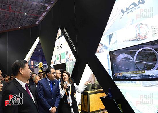 مصطفى مدبولى يفتتح الجناح المصرى بمعرض الصين الدولى للواردات بشنغهاى (12)