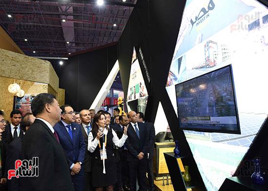 مصطفى مدبولى يفتتح الجناح المصرى بمعرض الصين الدولى للواردات بشنغهاى (13)