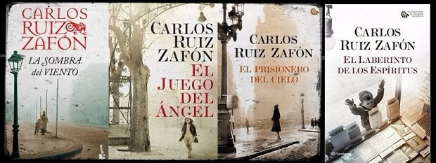 رباعية مقبرة الكتب المنسية للكاتب كارلوس زافون