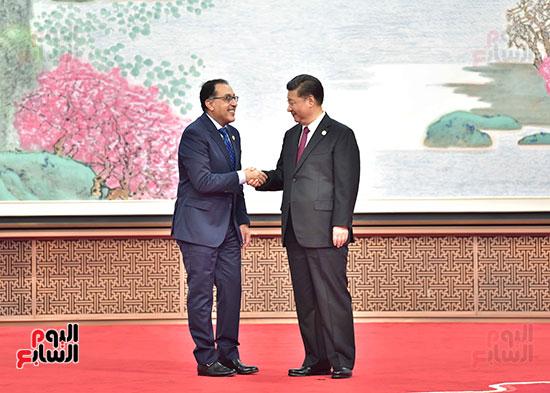 مصطفى مدبولى يفتتح الجناح المصرى بمعرض الصين الدولى للواردات بشنغهاى (2)