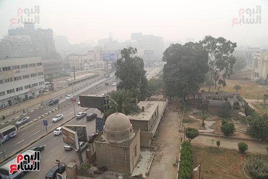 صور شبورة كثيفة تغطى سماء القاهرة والجيزة (13)