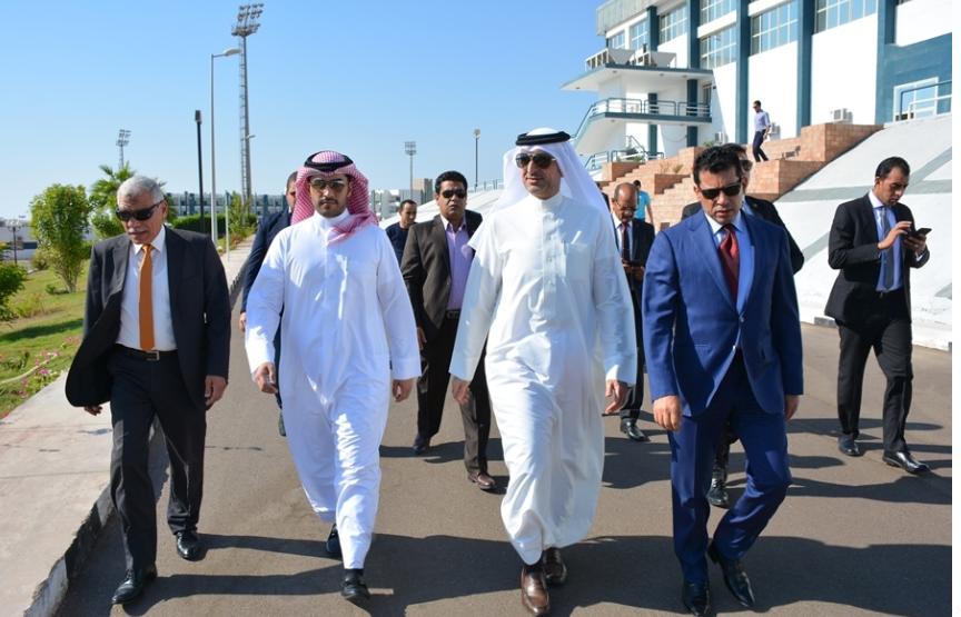 وزير الرياضة ونظيره البحرينى فى شرم الشيخ
