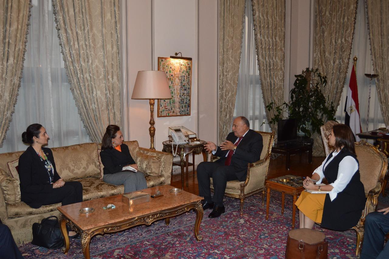 شكرى يستقبل وفد مجموعة الصداقة البرلمانية المصرية البريطانية (1)