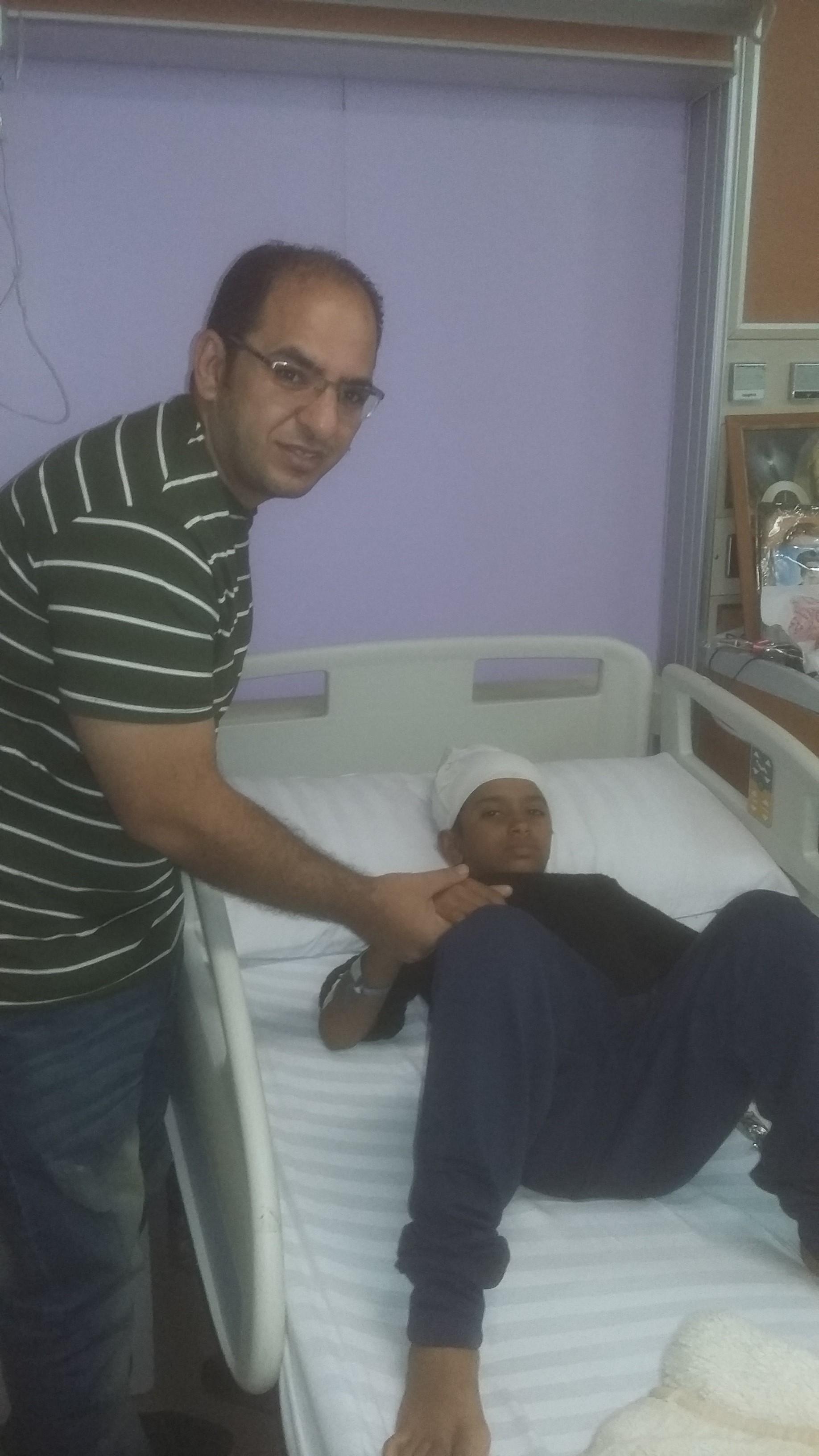 محرر اليوم السابع مع فادى ابن الشهيدة