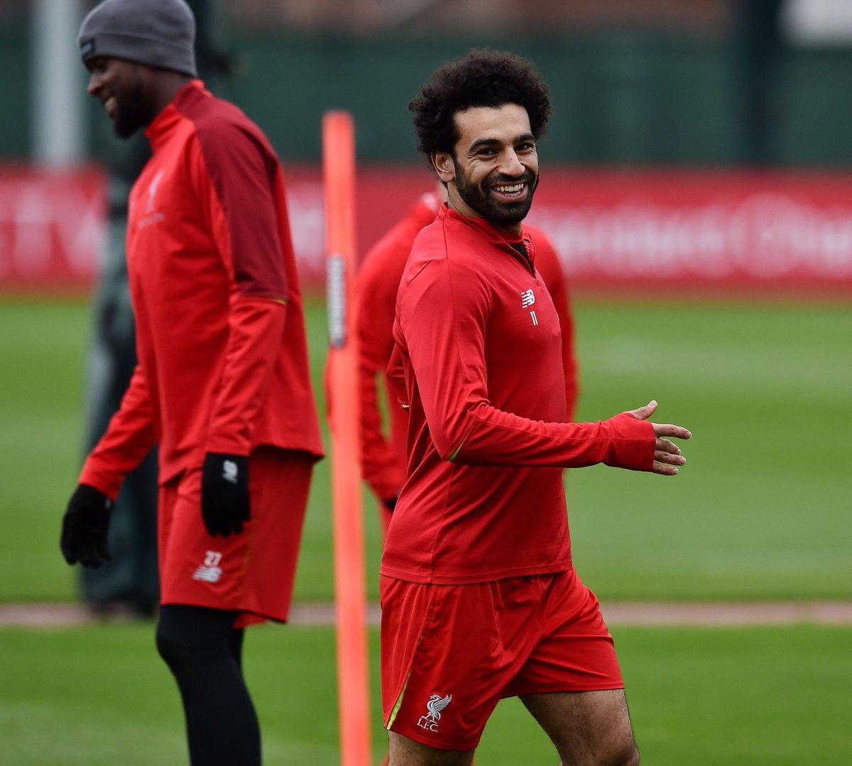 محمد صلاح خلال تدريبات ليفربول استعدادا لمواجهة فولهام (2)