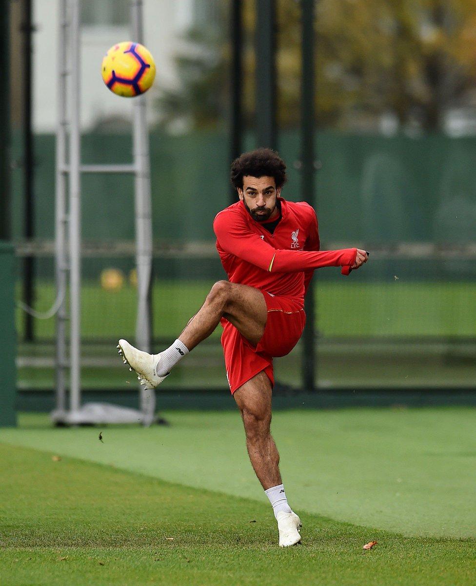 محمد صلاح خلال تدريبات ليفربول استعدادا لمواجهة فولهام (5)