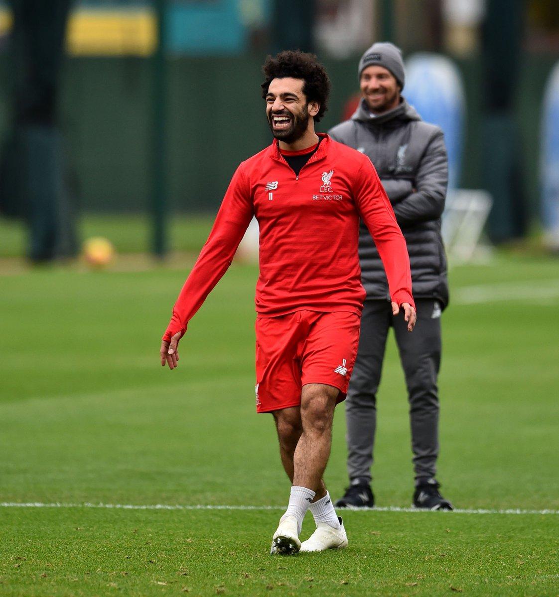 محمد صلاح خلال تدريبات ليفربول استعدادا لمواجهة فولهام (1)