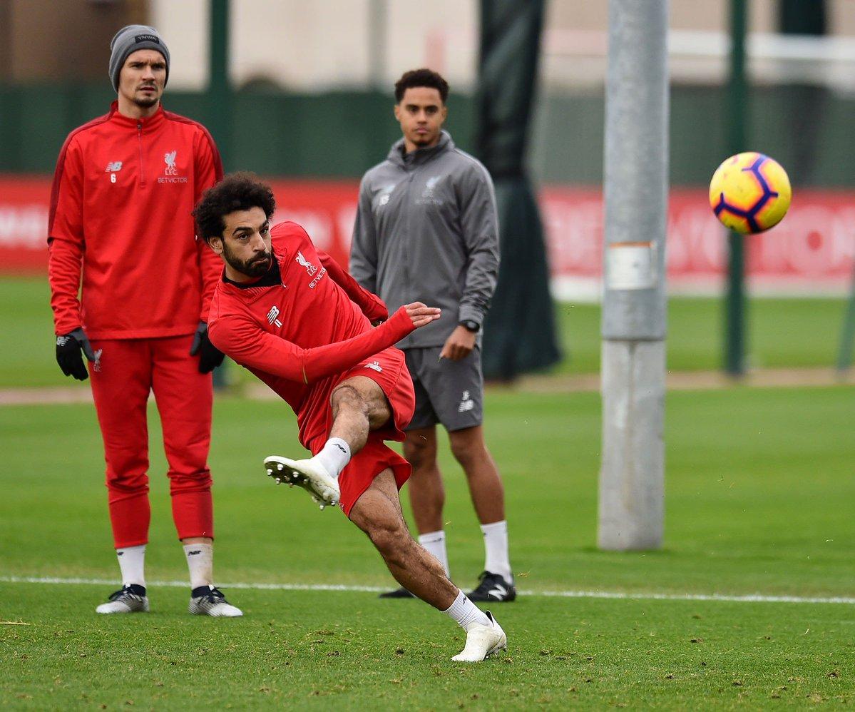 محمد صلاح خلال تدريبات ليفربول استعدادا لمواجهة فولهام (3)