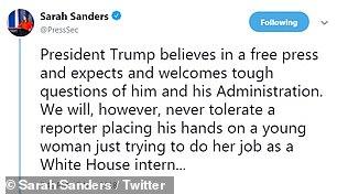 تغريدات سارة ساندرز عن الصحفى أكوستا (4)