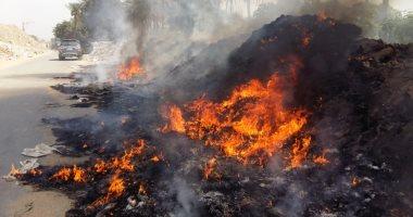 حرق القمامة بالتجمع الثالث فى القطامية