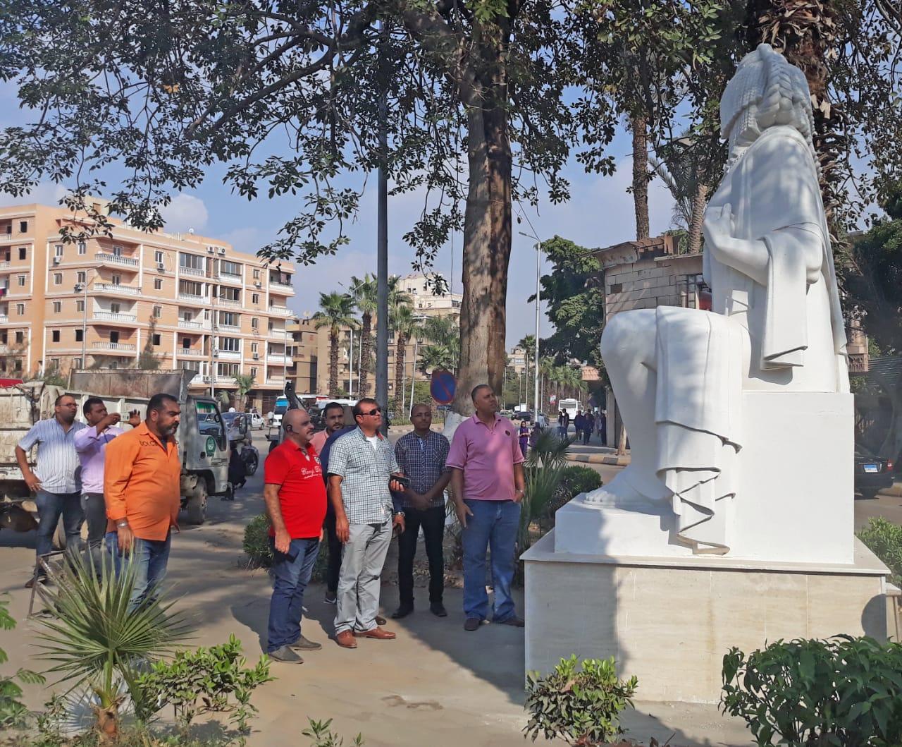 تمثال الفلاحة بعد الترميم  (3)
