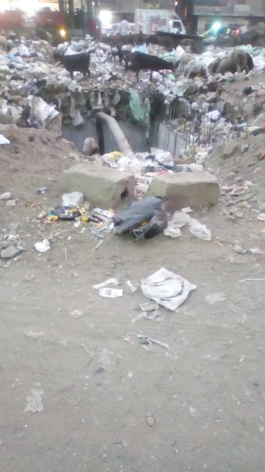 تراكم القمامة بالمسلة الجديدة فى المطرية