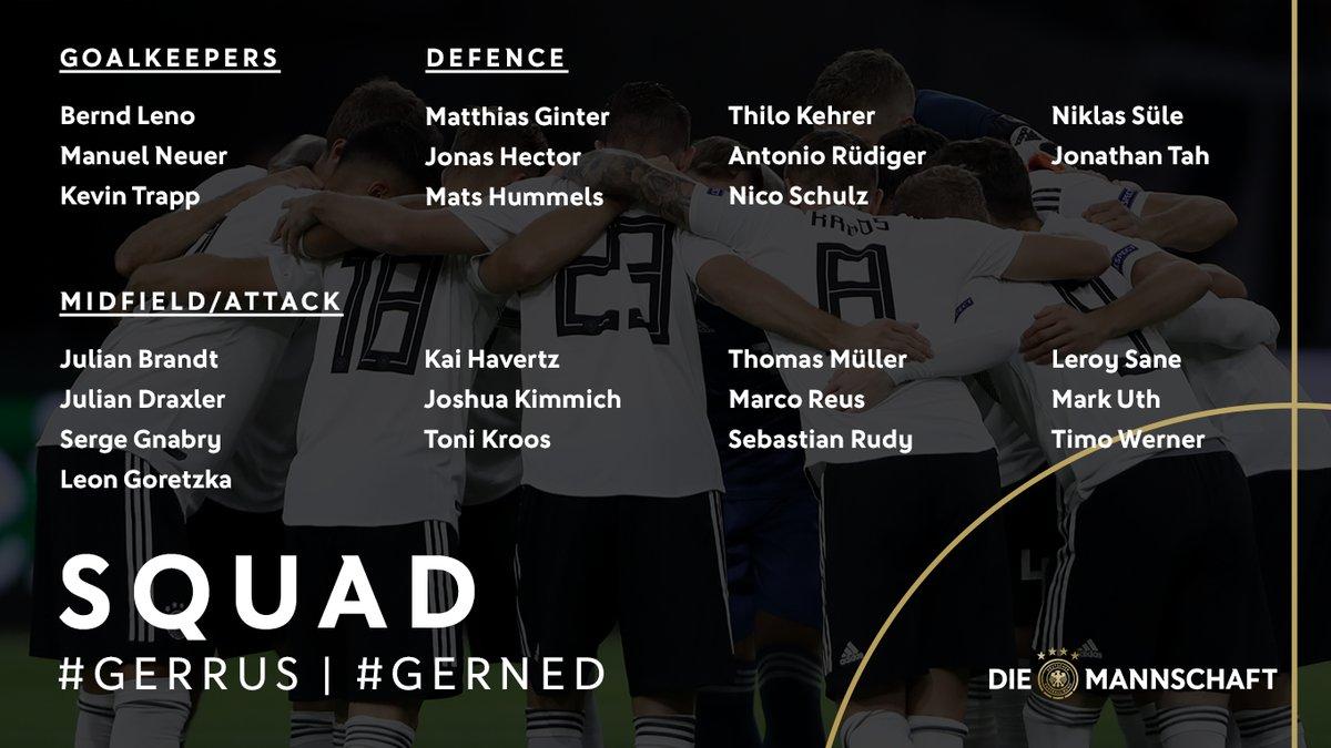 قائمة منتخب ألمانيا