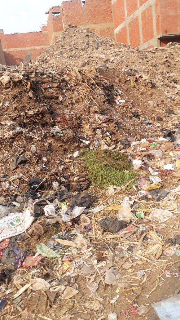 القمامة بالعزبة الغربية بشبين الكوم