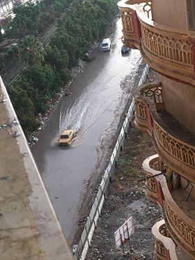 مياه الأمطار بسموحة فى الإسكندرية