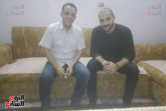 ياسر-الدينارى-مع-محرر-اليوم-السابع
