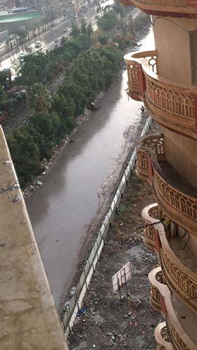 تجمع مياه الأمطار بشوارع سموحة فى الإسكندرية
