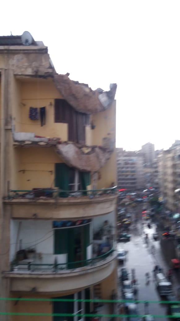مياه الأمطار تغرق منازل شارع بورسعيد شرق الإسكندرية (5)