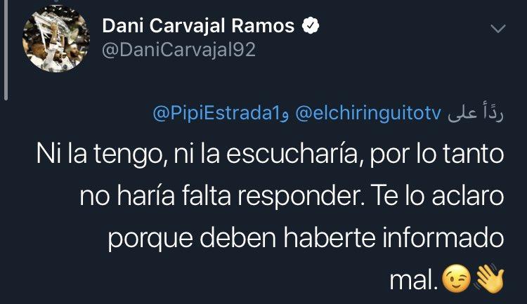 تغريدة كارفاخال مدافع ريال مدريد