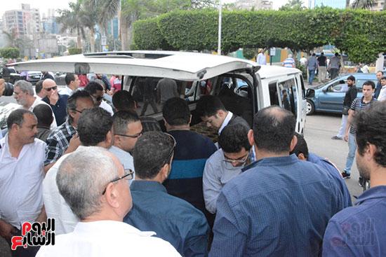 تشييع جثمان الإعلامية نادية صالح (3)