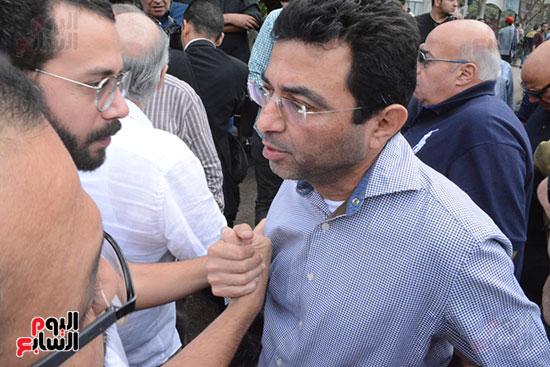 تشييع جثمان الإعلامية نادية صالح (1)