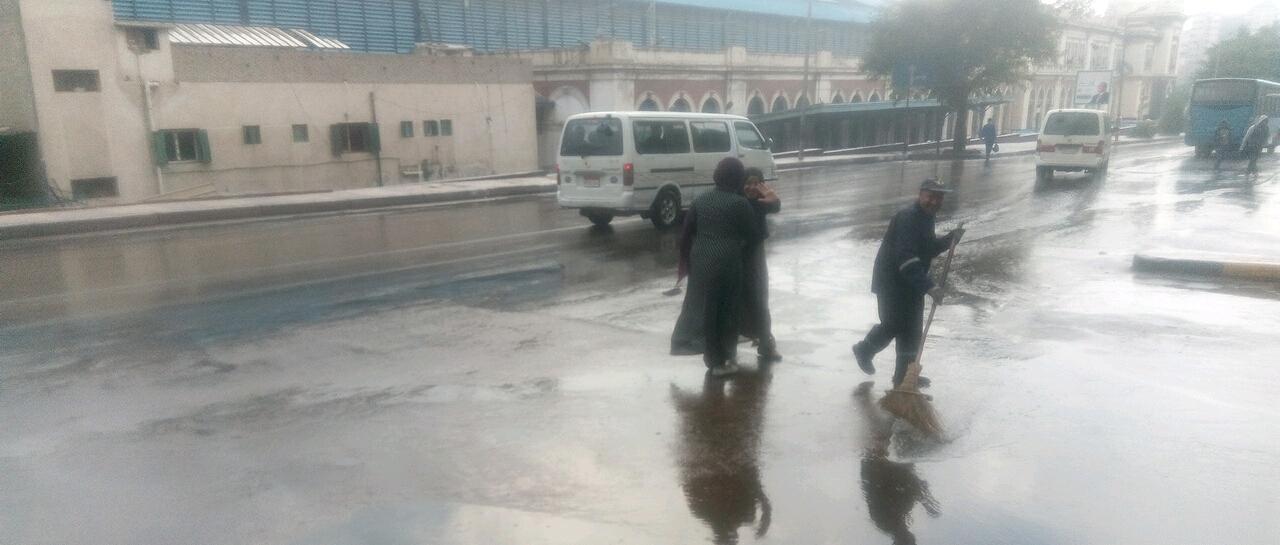 أمطار رعدية غزيرة فى مناطق متفرقة بالاسكندرية  (3)