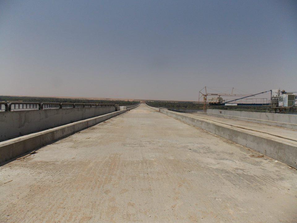 محور  كوبرى كلابشة على النيل بمحافظة أسوان على النيل