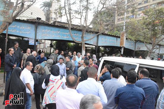 تشييع جثمان الإعلامية نادية صالح (2)