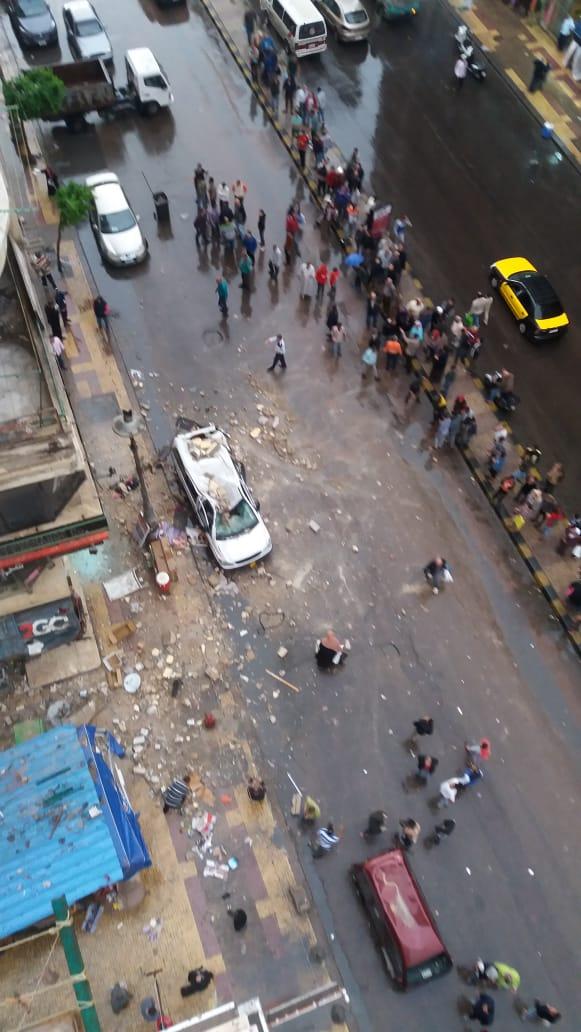 مياه الأمطار تغرق منازل شارع بورسعيد شرق الإسكندرية (3)