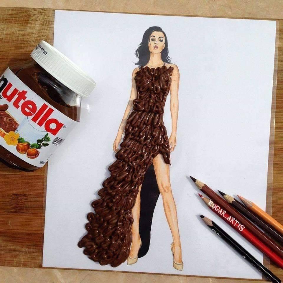 فستان النوتيلا