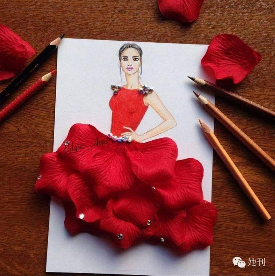 فستان من ورق الأزهار