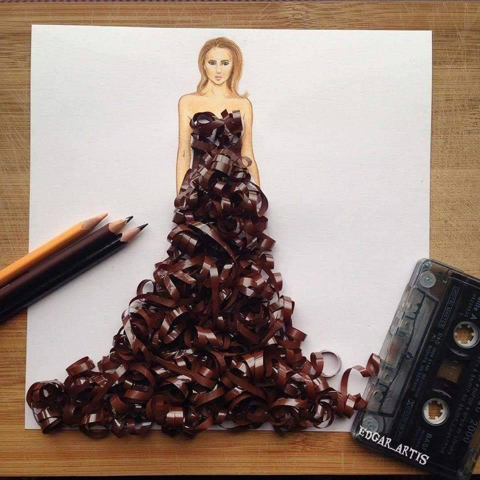 فستان شريط الكاسيت