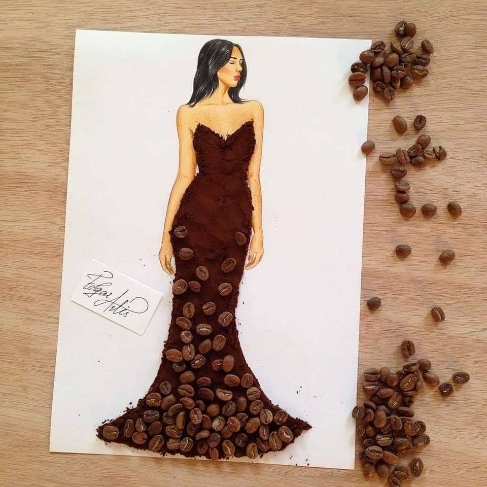 فستان القهوة