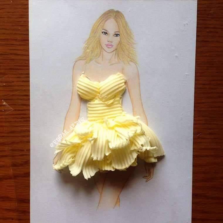 فستان من البطاطس المقرمشة